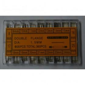 Watch Repair Kit Ear 8-25mm 360 Pcs - Silver - 5