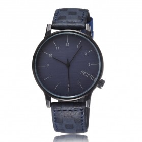 Feifan Fashion Men Watch Leather Strap - Blue