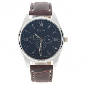 POLOV Jam Tangan Analog (OEM) - Brown