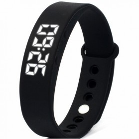 Gelang Sport W5S Pedometer Fitness - Black