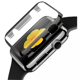 Case Cover & Screen Protector untuk Apple Watch Series 1/2/3 42mm - Black