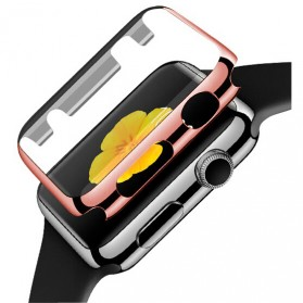 Case Cover & Screen Protector untuk Apple Watch Series 1/2/3 38mm - Rose Gold