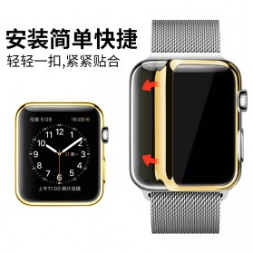 Case Cover & Screen Protector untuk Apple Watch Series 1/2/3 38mm - Rose Gold - 6