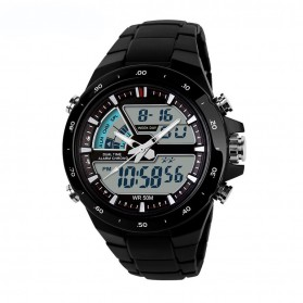 Mortima Casio Men Sport LED Watch Water Resistant 50m - AD1016 - Black