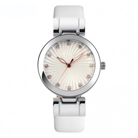 Mortima Casual Women Leather Strap Watch Water Resistant 30m - 9086CL - White