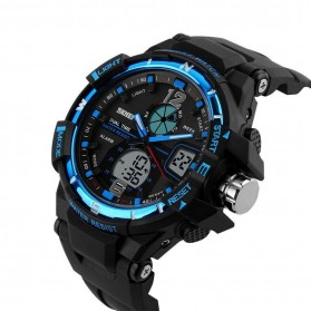 Mortima Men Sport Analog LED Watch Water Resistant 50m - AD1148 - Black/Blue - 3