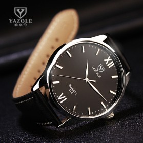 Yazole Jam Tangan Analog - 318 - Black/Black - 2