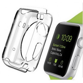Ultra Thin TPU Case for Apple Watch Series 2 42mm - Transparent