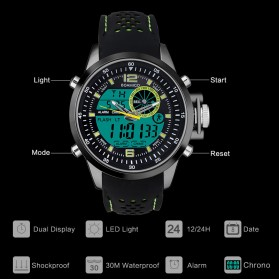 BOAMIGO Jam Tangan Sporty Digital Analog - F533 - Green - 4