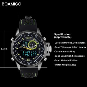 BOAMIGO Jam Tangan Sporty Digital Analog - F533 - Green - 6