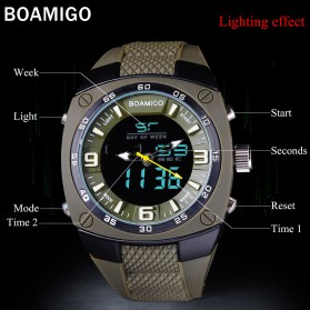 BOAMIGO Jam Tangan Sporty Digital Analog - F602 - Green - 3