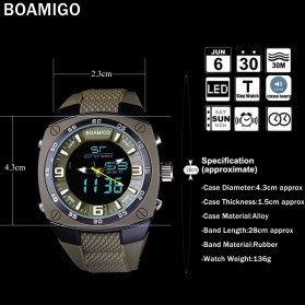 BOAMIGO Jam Tangan Sporty Digital Analog - F602 - Green - 4