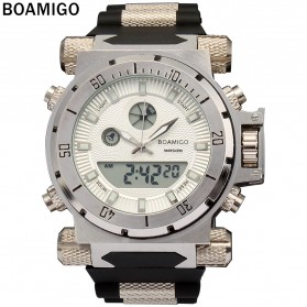 BOAMIGO Jam Tangan Sporty Digital Analog - F101 - White