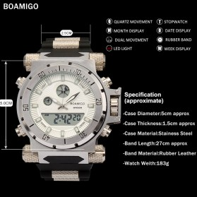 BOAMIGO Jam Tangan Sporty Digital Analog - F101 - White - 2