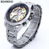 BOAMIGO Jam Tangan Sporty Digital Analog - F100 - Silver/Gold