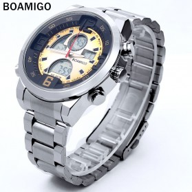 BOAMIGO Jam Tangan Sporty Digital Analog - F100 - Silver/Gold