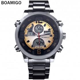 BOAMIGO Jam Tangan Sporty Digital Analog - F100 - Silver/Gold - 2