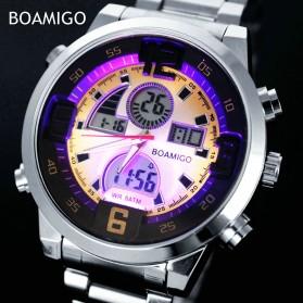BOAMIGO Jam Tangan Sporty Digital Analog - F100 - Silver/Gold - 3