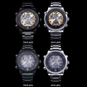 BOAMIGO Jam Tangan Sporty Digital Analog - F100 - Silver/Gold - 4