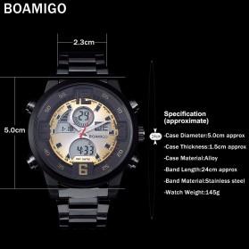 BOAMIGO Jam Tangan Sporty Digital Analog - F100 - Silver/Gold - 5