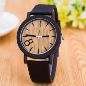 Jam Tangan Analog Model Wood - M009 - Black - 2