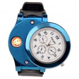 Huayue Jam Tangan Kasual dengan Korek Elektrik USB - F772 - Black/Blue