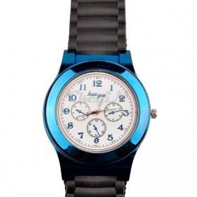 Huayue Jam Tangan Kasual dengan Korek Elektrik USB - F772 - Black/Blue - 2