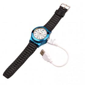 Huayue Jam Tangan Kasual dengan Korek Elektrik USB - F772 - Black/Blue - 6
