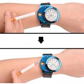 Huayue Jam Tangan Kasual dengan Korek Elektrik USB - F772 - Black/Blue - 7