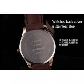Jam Tangan Kasual dengan Korek Elektrik USB - Black/Silver - 7