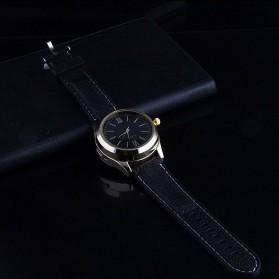 Jam Tangan Kasual dengan Korek Elektrik USB - Black/Silver - 8