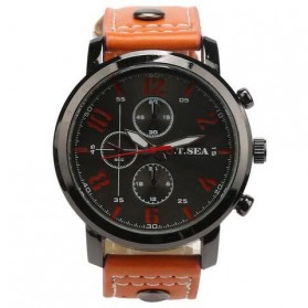 O.T.SEA Jam Tangan Analog Pria - Brown/Black