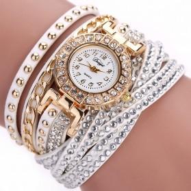 Jam Tangan Wanita Model Gelang Rhinestone - DY001 - White