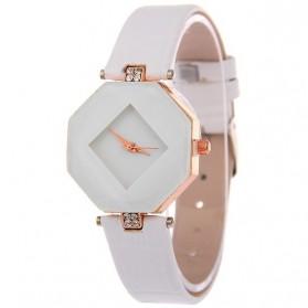Jam Tangan Kasual Jewelry Cutting Wanita - zp6042 - White - 1