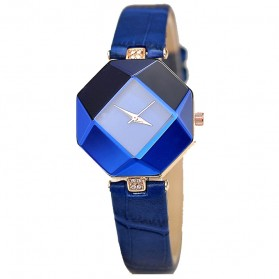 Jam Tangan Kasual Jewelry Cutting Wanita - zp6042 - Blue