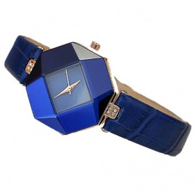 Jam Tangan Kasual Jewelry Cutting Wanita - zp6042 - Blue - 2