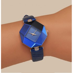 Jam Tangan Kasual Jewelry Cutting Wanita - zp6042 - Blue - 3