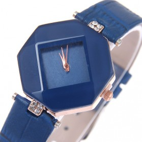 Jam Tangan Kasual Jewelry Cutting Wanita - zp6042 - Blue - 4