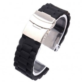 Strap Jam Tangan Butterfly 20mm Model 1 - Black