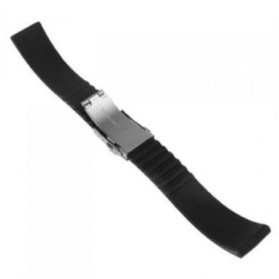 Strap Jam Tangan Butterfly 20mm Model 2 - Black - 4