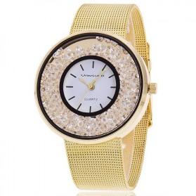 Jam Tangan Wanita Rhinestone Crystal - Golden