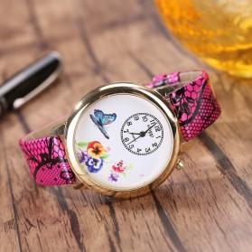 Jam Tangan Wanita Model Butterfly - Rose - 2
