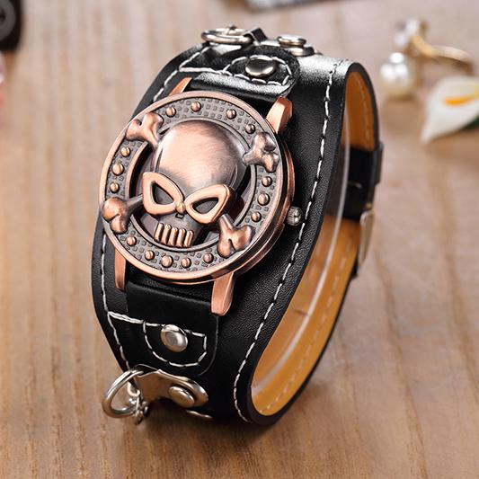 ... Jam Tangan Fashion Pria Skull - Bronze - 3 ...