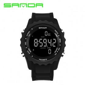 Sanda Jam Tangan Digital Pria - 370 - Black
