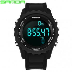 Sanda Jam Tangan Digital Pria - 370 - Black - 2