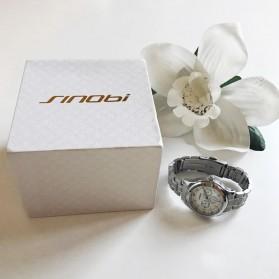 SINOBI Jam Tangan Analog Wanita - 9285 - Silver - 6