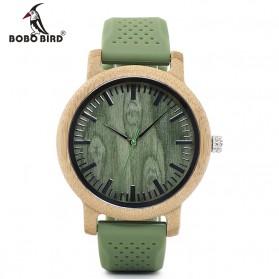 BOBO BIRD Jam Tangan Bambu Analog Pria - WB06 - Green