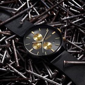 BOAGELA Jam Tangan Analog Pria - 1611 - Black Gold - 5