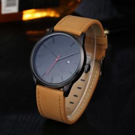 Lvpai Jam Tangan Analog Pria Luxury Leather - LP031 - Brown/Black