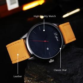Lvpai Jam Tangan Analog Pria Luxury Leather - LP031 - Brown/White - 8